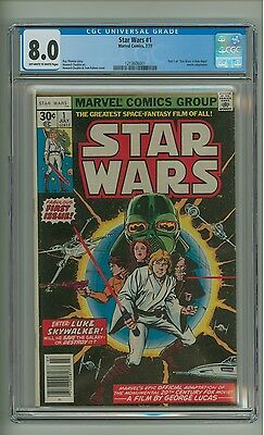 """Star Wars #1 (CGC 8.0) OW/W pgs; """"A New Hope"""" adaptation; Marvel; 1977 (c#12744)"""