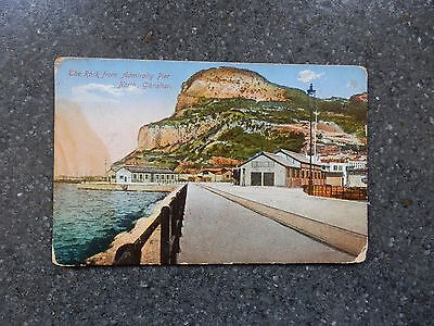 Early postcard- Rock from Admiralty pier - Gibraltar