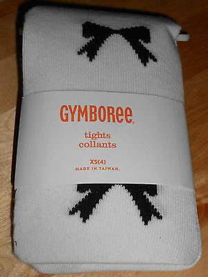 Girls Gymboree 2014 Posh And Playful Bow Tights Xs 4 Nwt