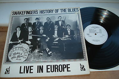 Snakefingers History Of The Blues 1ST PRESS! A1/B1  PLAYS EX!! ORIGINAL1984 LP