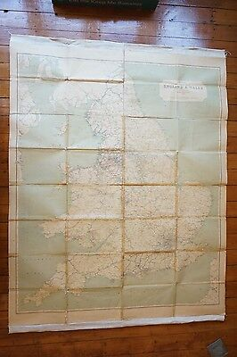 1921 Railway Clearing House RCH Map of England & Wales Linen Backed V Large