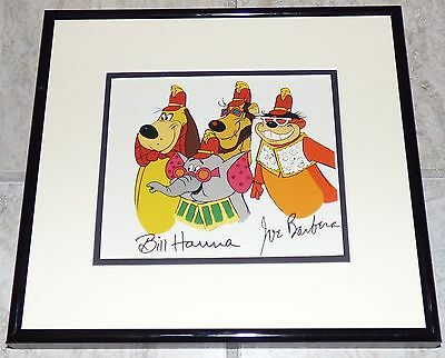HANNA BARBERA THE BANANA SPLITS VINTAGE 1990s FRAMED PRINT