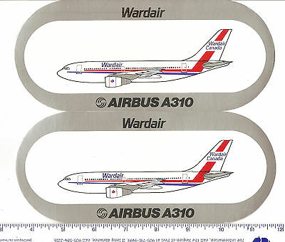 for sale, 2 Wardair advertising decals(adhesive back)for the AirbusA310 service.