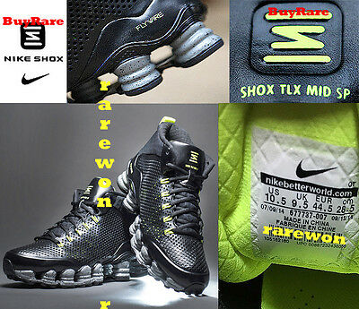 Full-Length Nike SHOX NRG TLX FLYWIRE BlackReflect RUNNING Shoes TRAINERS US10.5