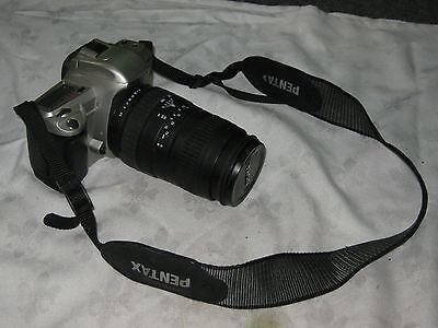 Pentax MZ - 60 35mm SLR Camera with Sigma Zoom 100-300 mm Zoom Lens