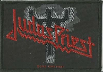 JUDAS PRIEST Fork Logo Woven Patch Sew On Official Band Merch Metal