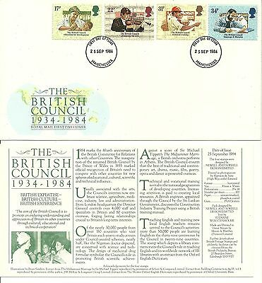 1984 - 50th Anniv of The British Council - First Day Cover - Not Addressed