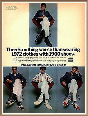 Keds, Sneakers, Knockarounds, 1972 Color PRINT AD
