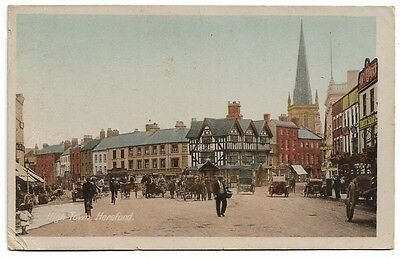[1531] Herefordshire Colored Postcard High Town Hereford
