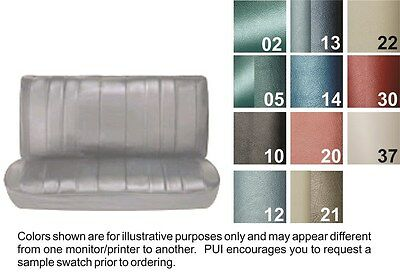 1966 Chevelle 4 Door Sedan / Wagon Fawn Straight Bench Seat Cover - PUI