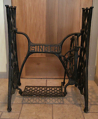Antique Vintage Cast Iron Singer Treadle Sewing Machine Base Table Stand