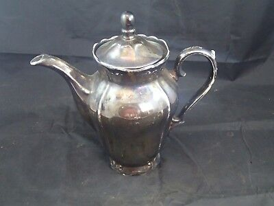 Antique Bavaria Keram Silber Germany German Ceramic Porcelain Tea Coffee Pot