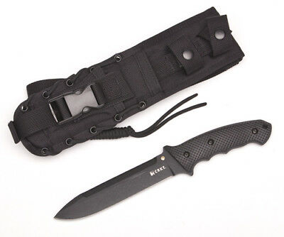 *CRKT Elishewitz F.T.W.S. Tactical Fixed Blade, Black Blade,