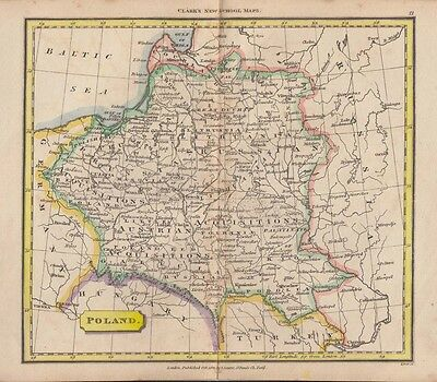 1822 Nice Tyrer Map of Poland