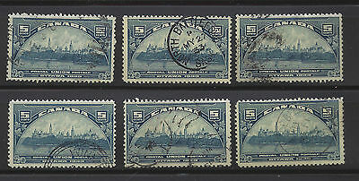 Canada Dealers Lot: #202 Postal Union Ottawa - 6 used stamps
