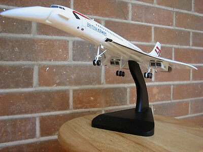 British Airways CONCORDE Model Aircraft BA Airplane TRAVEL AGENT Gear down