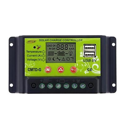 10-20A LCD Solar Panel Battery Regulator Charge Controller 12/24V Auto Switch BA