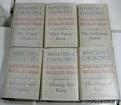 WINSTON CHURCHILL'S SECOND WORLD WAR/1948/RARE 1st Ed/145 MAPS/NEAR FINE BOOKS