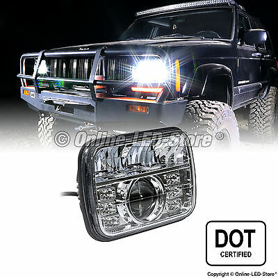 5x7 50W LED Headlight DOT Approved Turn Signal & DRL Ready (H6052 H6054 H6014)