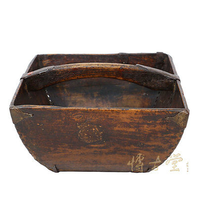 "Chinese Antique Official Rice Basket ""Dou"" 20P61"