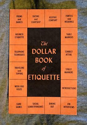 1953 The Dollar Book of Etiquette W.W. Keating