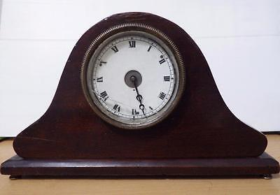 Napoleon hat antique mantel/table clock with preserved patina circa 1930
