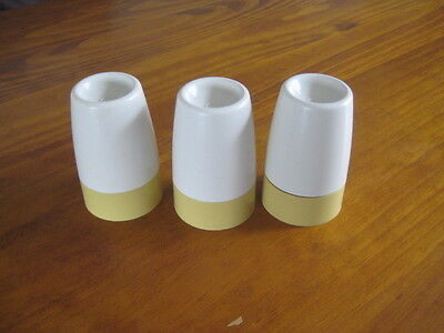 Retro Tupperware EGG CUPS & COVERS x3 - HARVEST GOLD & CREAM Vintage- preowned