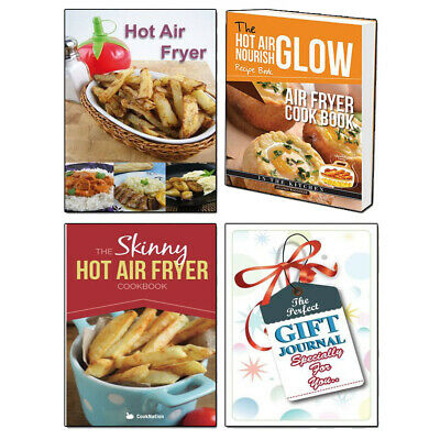 Air Fryer Cook Book,Skinny Hot Air Fryer 3 Books Collection With Gift Journal