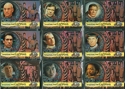 Star Trek Cine 2000 Saludando La Captains Carta Individual