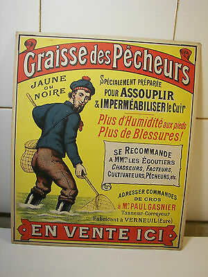 Rare Advertising Card Sign Fishermen Grease 1900s Shrimp Wax Wachs Plakat