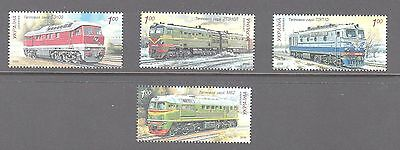 Ukraine 2008 Diesel Locomotives Mint unhinged set 4  stamps