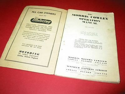 Morris Cowley First Edition Manual
