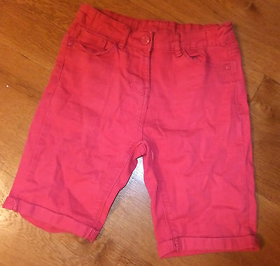 Girls Bright Pink shorts 8-9 years great cond
