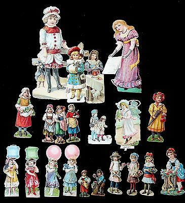28 Different Sm Embossed Die-cut Victorian Scraps--Little Girls at Work & Play