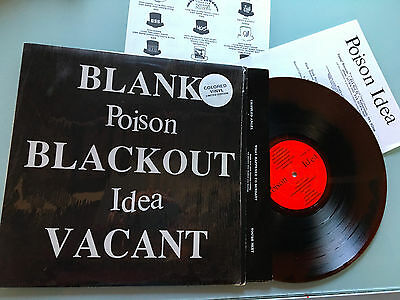 LP  Limited Edition COLORED 1992 MINT  Poison Idea – Blank, Blackout, Vacant