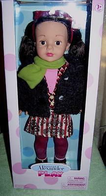 "Madame Alexander Mixed Prints 18"" Play Brunette Doll New"