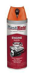 PlastiKote 200; Paint; For Engine Surface; Chevy Orange; Spray Can; 12 Ounce