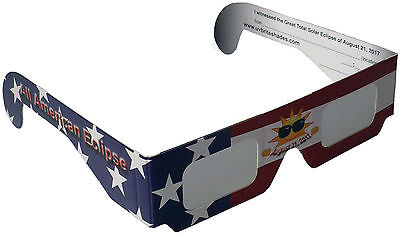 Solar Eclipse Glasses USA 2017 Stars & Stripes Edition Sun Viewer Filter Shades