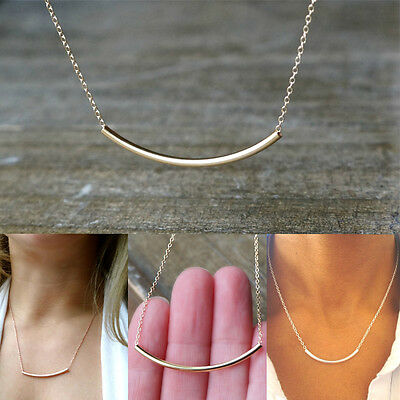 Hot Women's Gold Necklace Pendant Chain Simple Beach Gift Clavicle Choker Punk