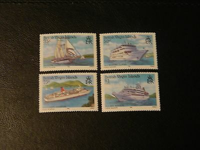 British Virgin Islands Stamp SG 592/95 4 MNH issued 1986 Visiting Cruise Ships.
