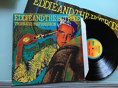 LP UK 1976 + POSTER  Eddie And The Hot Rods – Teenage Depression
