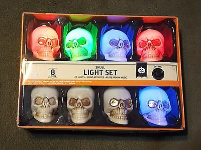 Halloween Light Set Sound Activated Plays Spooky Music
