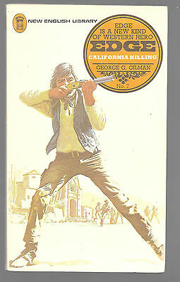 EDGE: CALIFORNIA KILLING by George G. Gilman 1973 Book Edge Western
