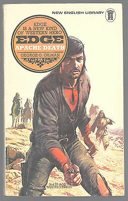 EDGE: APACHE DEATH by George G. Gilman 1975 Book Edge Western