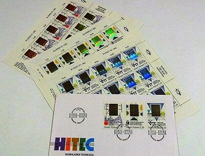 Finland Stamp Sheet hologram Collection 3 sheets: 2,10 - 2,90 - 3,40 + FDC mint