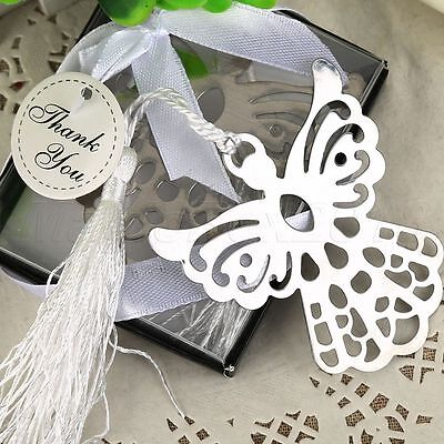 Silver Guardian ANGEL Bookmark Christening Wedding Favor Xmas Gift Stationary