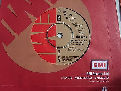 The Shadows, Let Me Be The One. (Eurovision Entry).  Original 1975 Emi Single.