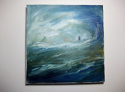 Original Oil Painting Wild Seascape With Lighthouse By Ann Marie Whitton