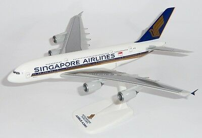 PPC Singapore Airlines Airbus A380-800 Desk Display Jet Model 1/250 AM Airplane