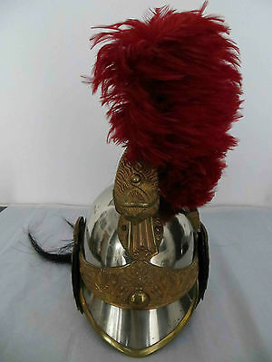 REDUCED French Army Cuirassier Officer Helmet 1872 Dragoon with Horsehair Plume